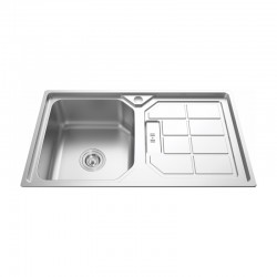 "1 BOWL 1 DRAINER STAINLESS STEEL SINK C/W 3 1/2""-Genova Series"