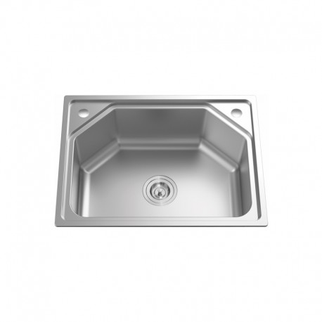 """SINGLE BOWL STAINLESS STEEL SINK C/W 3 1/2""""-Cassino Series"""