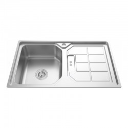 "1 BOWL 1 DRAINER STAINLESS STEEL SINK C/W 3 1/2""-Cassino Series"