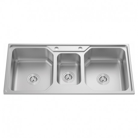 """2 & 1/2"""" BOWL STAINLESS STEEL SINK C/W 3 1/2""""-Cassino Series"""