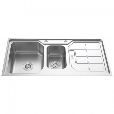 "1 1/2""  BOWL 1 DRAINER STAINLESS STEEL SINK C/W 3 1/2""-Cassino Series"