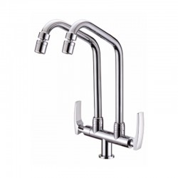 DOUBLE SWIVEL PILLAR SINK TAP- Sicily Series