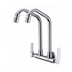 DOUBLE SWIVEL WALL SINK TAP- Sicily Series