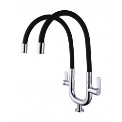 ERN 2333 PD FLEXI PILLAR DOUBLE SINK TAP - BLACK