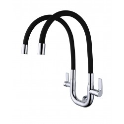 ERN 2333 WD FLEXI WALL DOUBLE SINK TAP - BLACK
