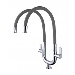ERN 2334 PD FLEXI PILLAR DOUBLE SINK TAP - GREY