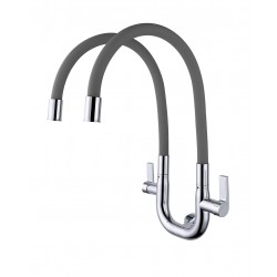 ERN 2334 WD FLEXI WALL DOUBLE SINK TAP - GREY
