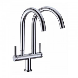 DOUBLE SWIVEL PILLAR SINK TAP-Pachino Series